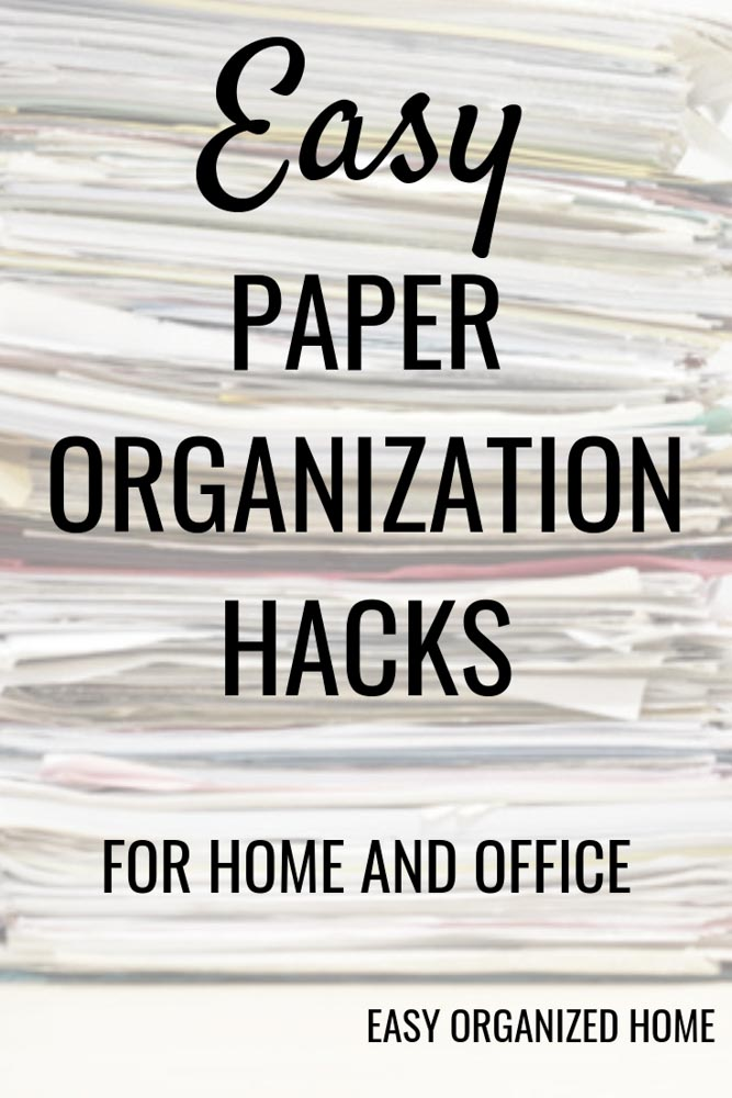 Get rid of paper clutter with these easy paper organization ideas. #paperworkorganization #peperworkorganizationideas #paperworkorganizationfilingsystem #organizing #organization #declutter #paperworkstorageideas #homeofficeorganization #deskorganization #homeorganization