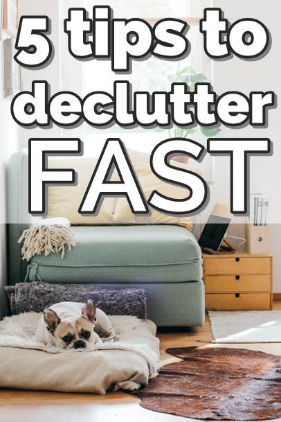 5 tips to declutter your home fast, these organization tips and tricks will help you keep your home clutter free. #declutter #decluttering #declutteryourhome #declutteringtips #declutteringahouse #organization #organize #organizing #organizationideas