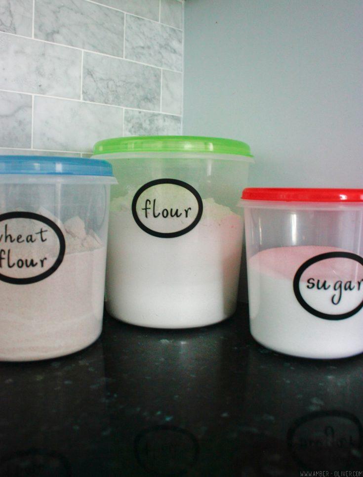 Kitchen Organization Labels