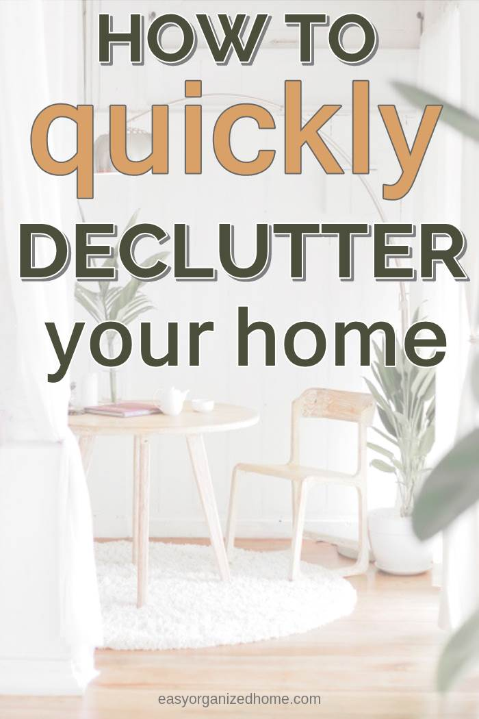 how to get rid of stuff and quickly declutter your home in a weekend #declutter #decluttering #declutteryourhome #declutteringtips #declutteringahouse #organization #organize #organizing #organizationideas