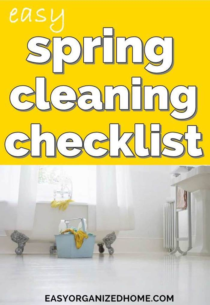 Easy spring cleaning checklist to deep clean, organize and declutter your home  #cleaning #cleaningtips #cleaninghacks #cleaningtricks #housecleaning #housecleaningtips #housekeeping #springcleaning #springclean