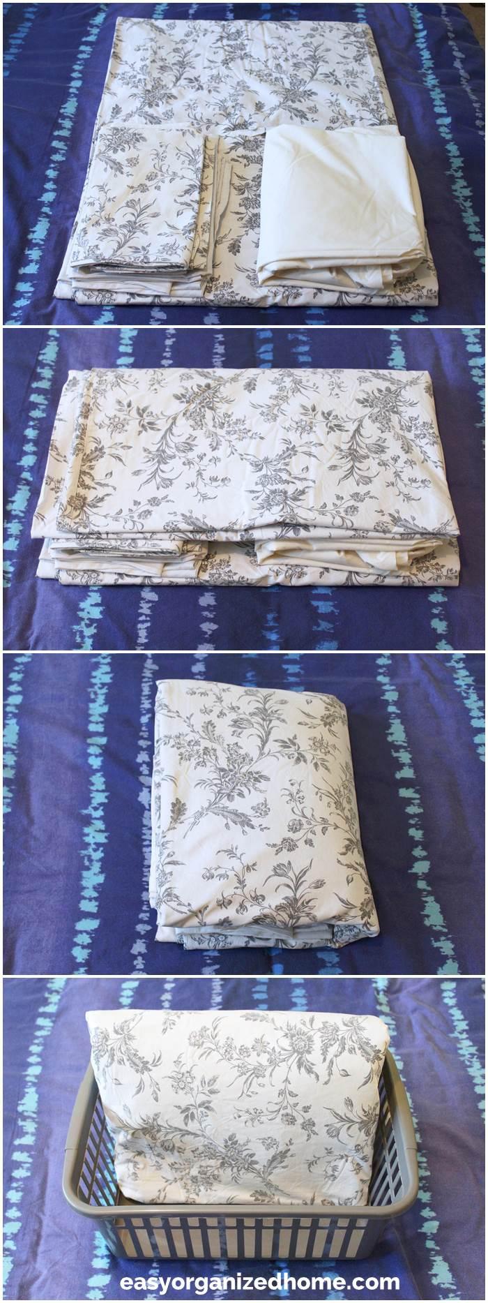 technique and folding ideas for your linen closet organization