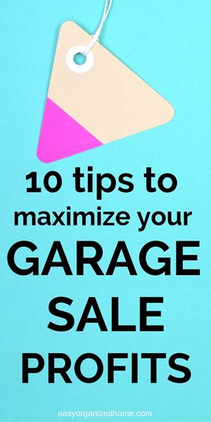 10 Yard sale ideas that will guarantee you have a successful garage sale. Our garage sale tips will help you with sign hacks, pricing, set up display and other ideas. #garagesale #garagesaletips #yardsale #extramoney #extracash #extraincome #declutter #decluttering #declutteryourhome #declutteringtips #declutteringahouse