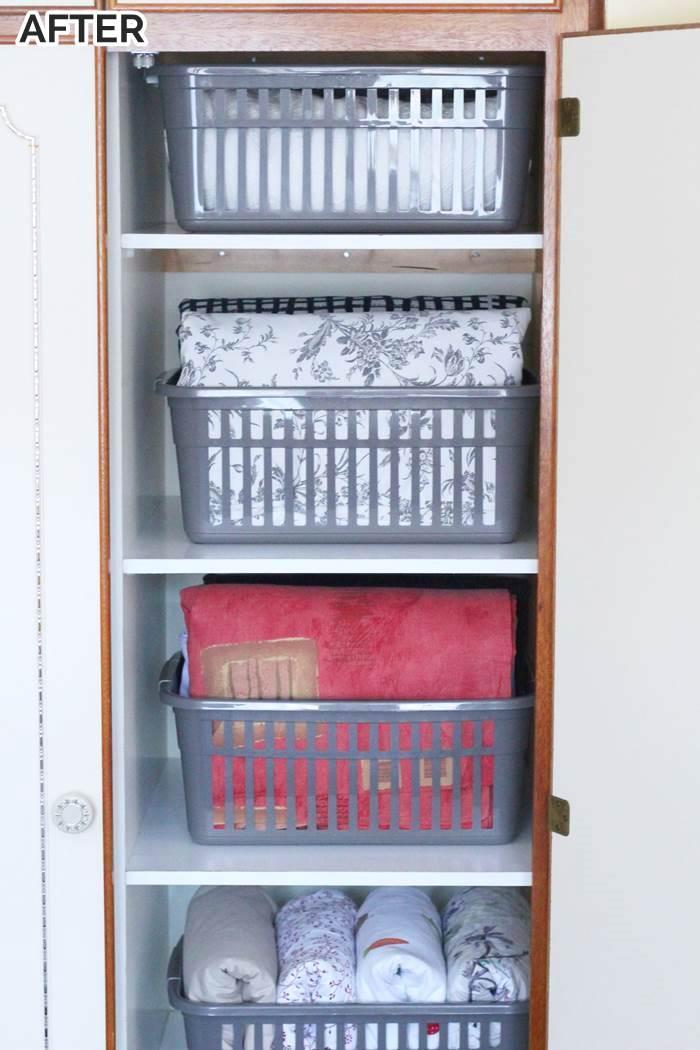 linen storage organization ideas