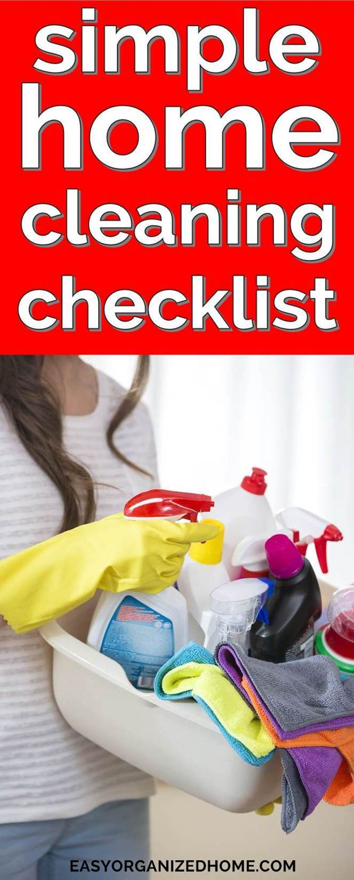 Simple home cleaning schedule and checklist to help you spring clean your house #cleaning #cleaningtips #cleaninghacks #cleaningtricks #housecleaning #housecleaningtips #housekeeping #springcleaning #springclean