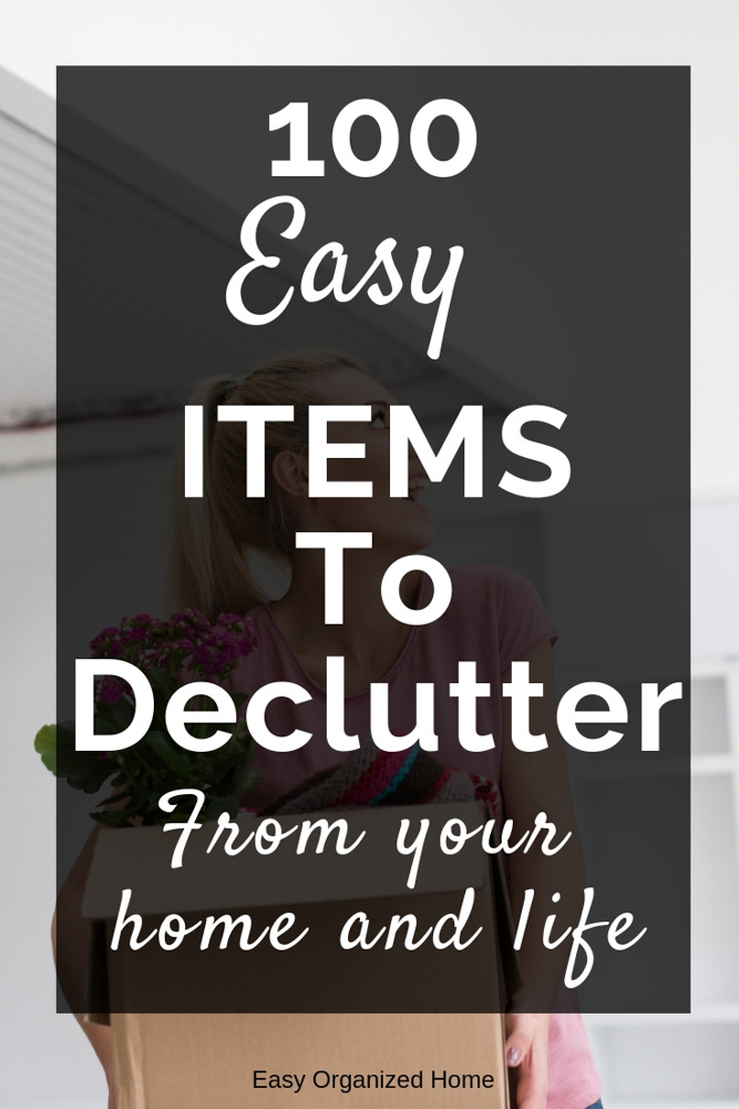 Need help to declutter your  home and life? Start by throwing away these easy items you have in your home. #declutter #decluttering #declutteryourhome #declutteryourlife #howtodeclutter