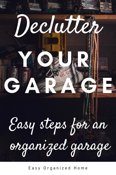 Feeling overwhelmed by all the junk in your garage? Follow our easy steps to declutter and clean your garage #cleaningtips #cleaninghacks #declutter #springclean #cleangarage