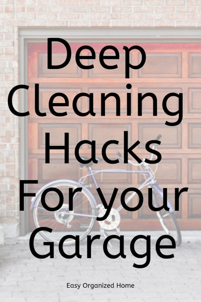 Can't park your car in the garage? Follow these easy cleaning tips to declutter and spring clean your garage. #cleaningtips #cleaninghacks #declutter #springclean #cleangarage
