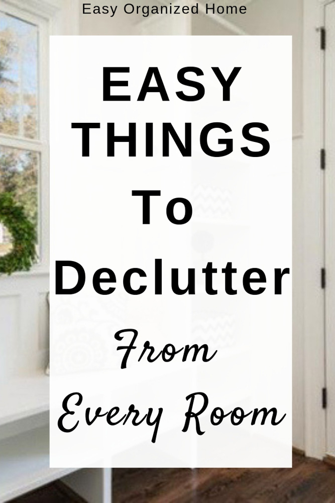 Having problems decluttering? Try decluttering your home of these easy items first. #declutter #decluttering #declutteryourhome #declutteryourlife #howtodeclutter