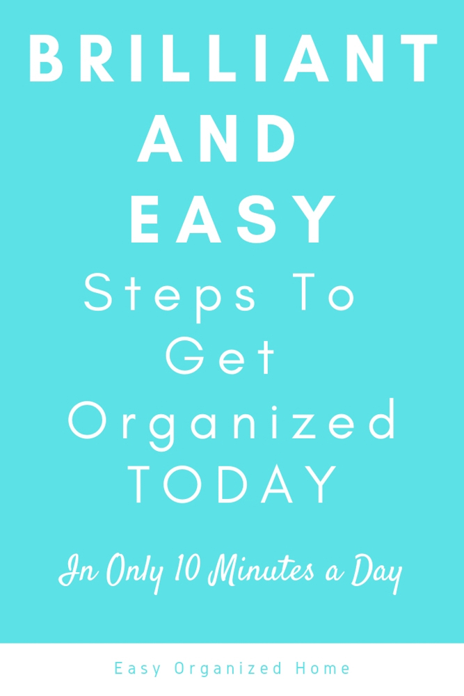 Feeling overwhelmed? Get organized today with this simple and effective organization hack. Spend 10 minutes a day and see how productive you can be! #organizedlife #organizedlifedailyroutines #organizedlifefeelingoverwhelmed #organizedlifestyle #organization #getorganized  #productivity