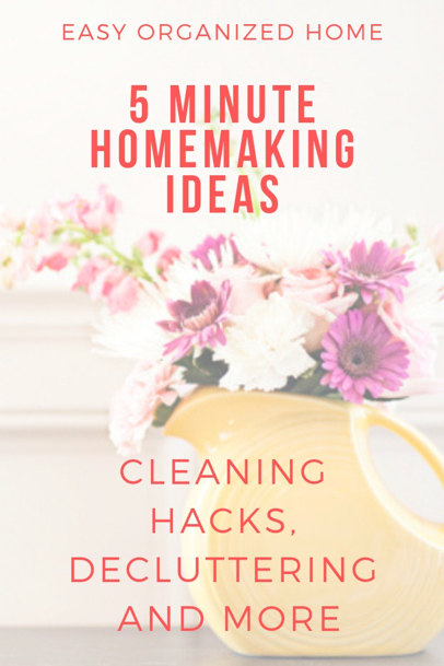 Make your house a home with these easy homemaking tasks #homemaking #housekeeping #cleaning #homehacks #cleaninghacks #homemakingideas