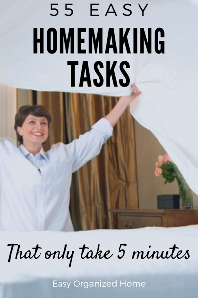 Make your house a home with these easy 5 minute housekeeping ideas #homemaking #housekeeping #cleaning #homehacks #cleaninghacks #homemakingideas