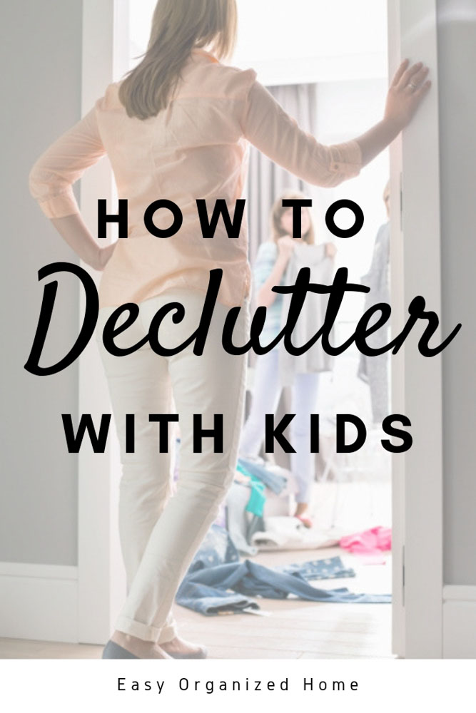 Thinks it's impossible to have a neat and tidy home with kids? Find out how you can get a home you love with these easy decluttering hacks. #declutter #decluttering #clutter #declutteringhacks #declutteringwithkids