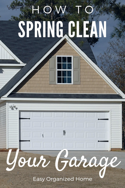 Spring cleaning? Don't forget to spring clean the garage. Find out how to clean your garage here #cleaningtips #cleaninghacks #declutter #springclean #cleangarage