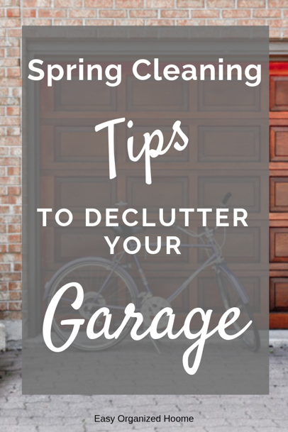 Get your garage organzied and decluttered with these easy garage spring cleaning hacks. #cleaningtips #cleaninghacks #declutter #springclean #cleangarage