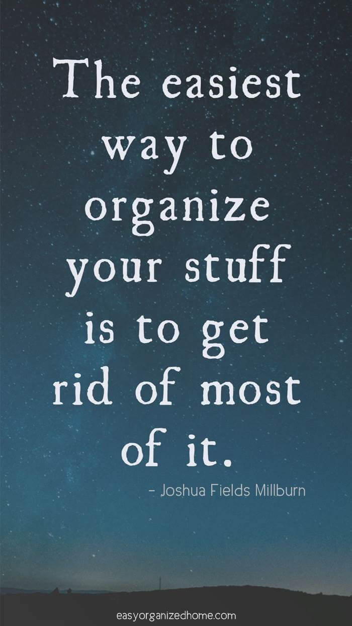 inspiration to declutter #quote #quoteoftheday #quotestoliveby #quotesinspirational #motivation #motivationalquotes #inspirational #inspirationalquotes #inspirationalwords #organizationquotes #organization #declutteringquotes #decluttering #minimalist #minimalist #minimalistquotes