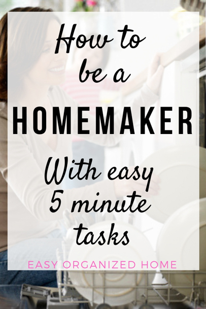 Simple homemaking ideas that will only take you 5 minutes. #homemaking #housekeeping #cleaning #homehacks #cleaninghacks #homemakingideas