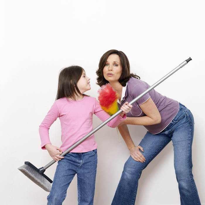 spring cleaning with the help of your family
