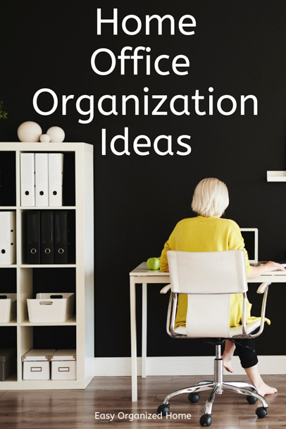Get organized with these easy home office organization ideas. #organization #getorganized #organizaing #homeofficeorganization #deskorganization #organizationhacks #organizationideas