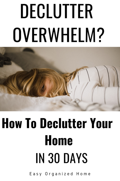 Easy Daily decluttering tasks for a clutter free home in only 1 month. #declutter #declutterhome #declutteringyourhome #30daychallenge #decluttering #clutter #declutterchallenge