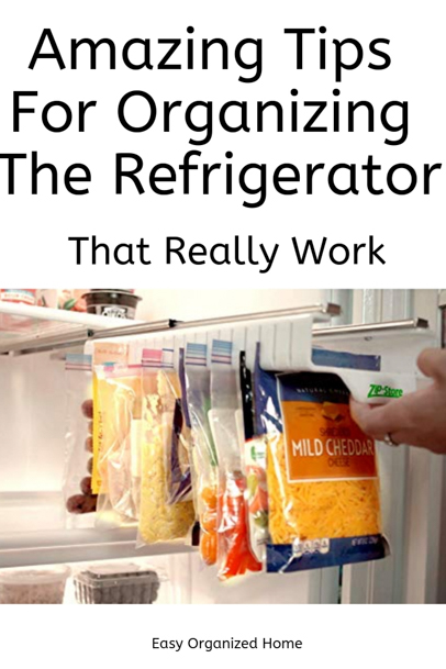Brilliant organization hacks to get your fridge organized. #organization #getorganized #fridgeorganization #organizefridge #refrigeratororganization #organizationhacks #organizationideas #organizationtips