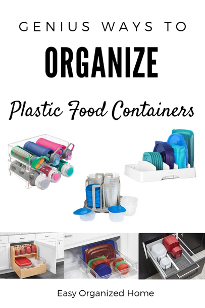 How To Organize Plastic food Containers. Find easy Tupperware hacks to keep your plastics cupboard organized #organization #homeorganization #kitchenorganization #tupperwareorganization #plasticcontainerorganization #organizeyourhome