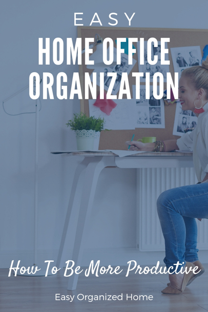 The best way to be more productive? Organize your work space! Find easy ways to get organized and stay organized. #organization #getorganized #organizaing #homeofficeorganization #deskorganization #organizationhacks #organizationideas