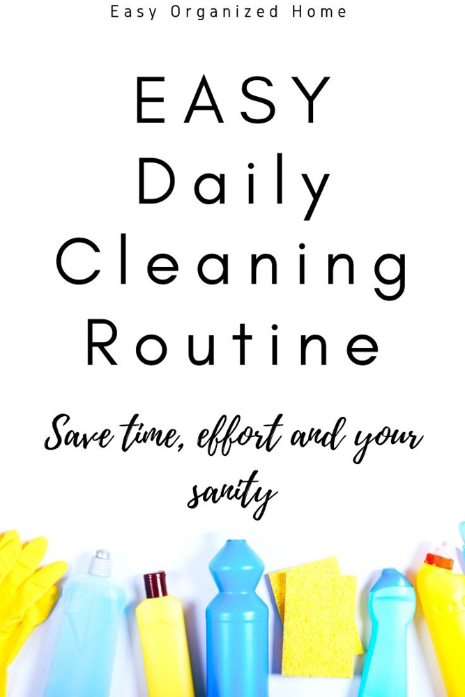 Simple daily chores to keep your home neat and clean. Cleaning doesn't have to take hours and be hard work. Add these super simple daily chores to your routine and find out how to always have a clean home. #cleaning #housecleaning #cleaninghacks #cleanhome #cleaningroutine #dailycleaning