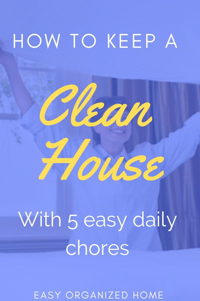5 must do chores for a clean home. Having a clean home is easier than you think. Forget the hours of cleaning and create a simple cleaning routine with these daily chores. #cleaning #housecleaning #cleaninghacks #cleanhome #cleaningroutine #dailycleaning