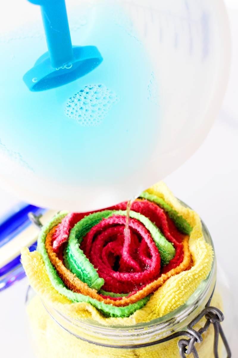 diy sanitizing wipes