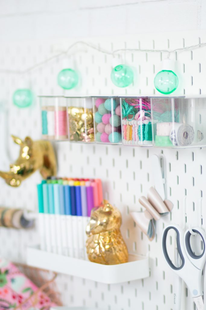 Organize with a pegboard