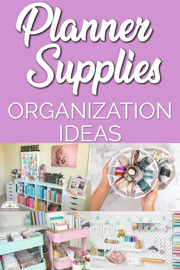 how to organize your planners supplies - 11 great planner supplies organization ideas