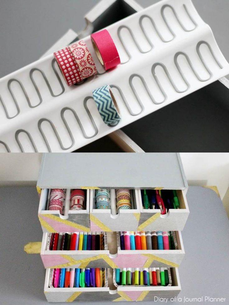 Washi Tape Storage with Ikea tray