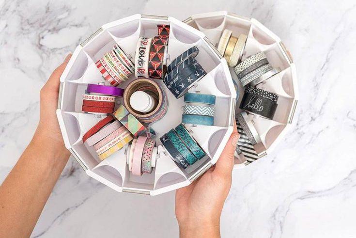 Organize a large amount of washi tape