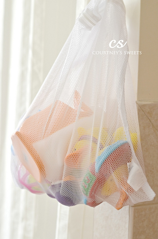 DIY Baby and shower storage ideas