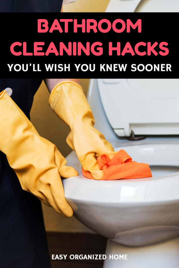 bathroom hacks to keep it clean and organized