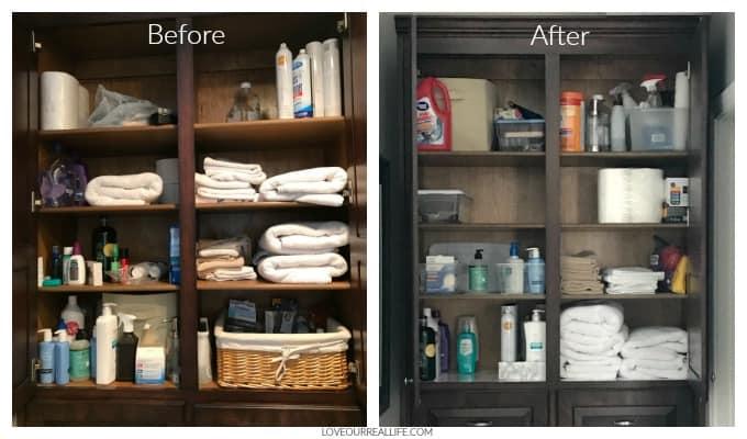 DIYbathroom storage hacks