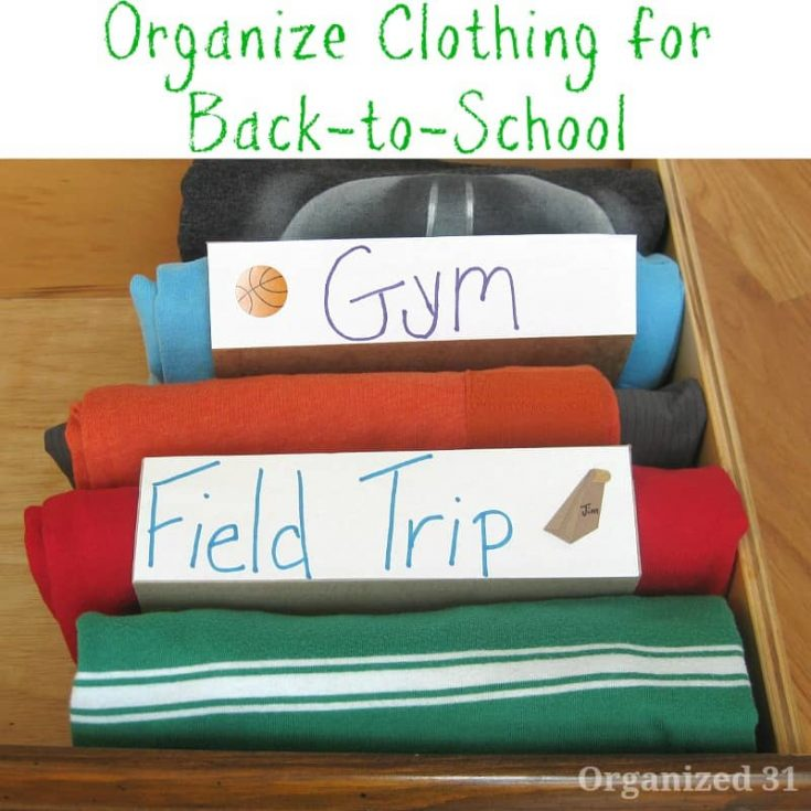Prepare School Outfits for the Week