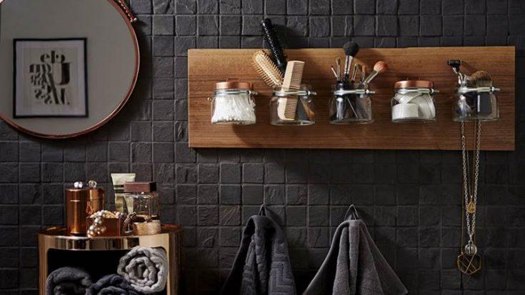 DIY wall bathroom storage ideas