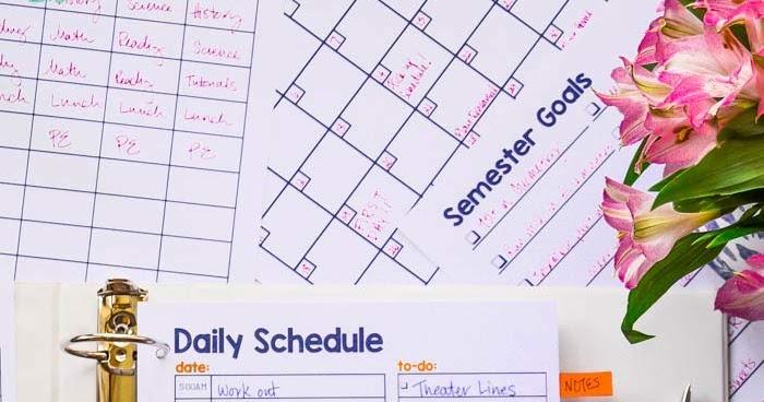 Student Planner Printable