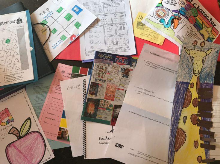 Organize school paperwork
