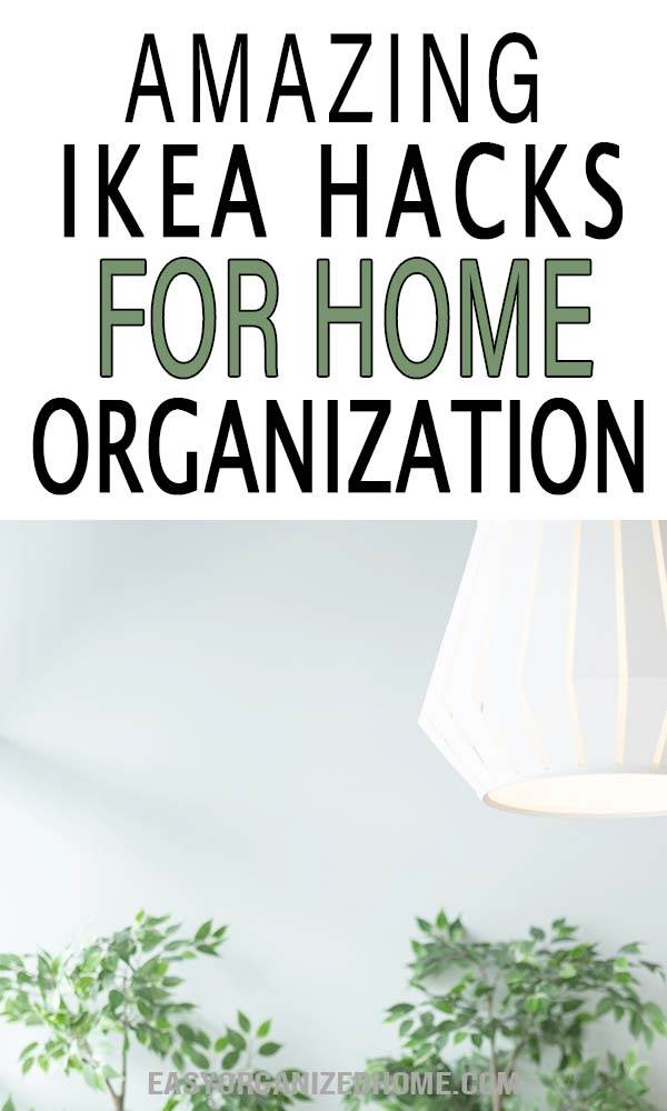 Messy house? Check these organization ideas for the home using IKEA hacks, tips and tricks to declutter and organize small spaces! #organization #organizationtips #declutter
