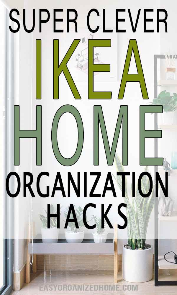 Organization Ikea hacks you need in your life and home! Cheap & easy tips to use Ikea items to get organized such as storage containers and more! #ikeahacks #organization
