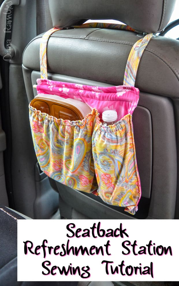 DIY Back Of Seat Car Organizer