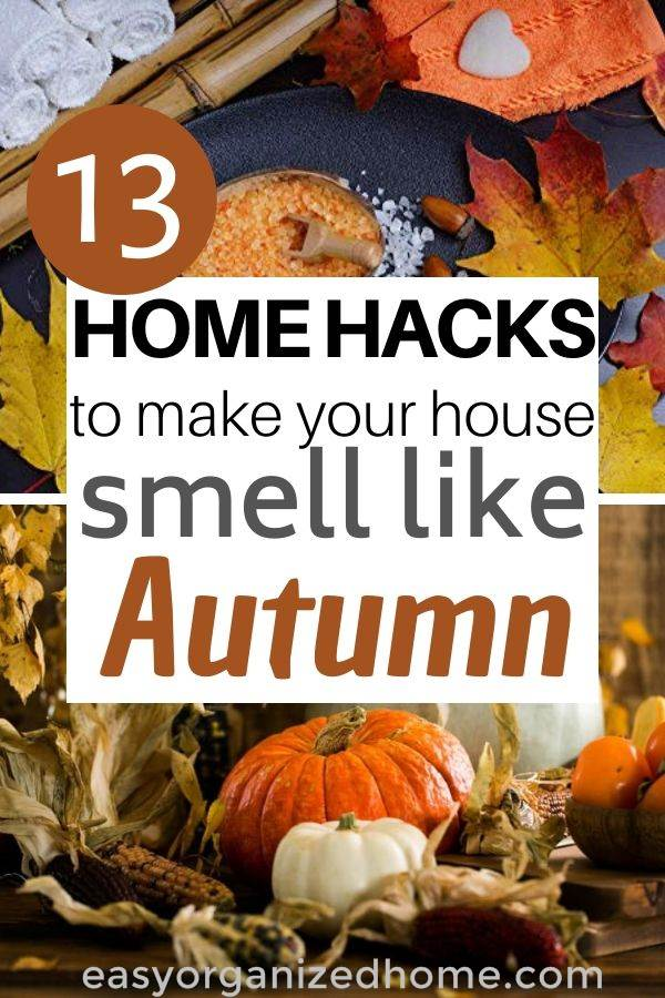hacks to make your home smell like fall