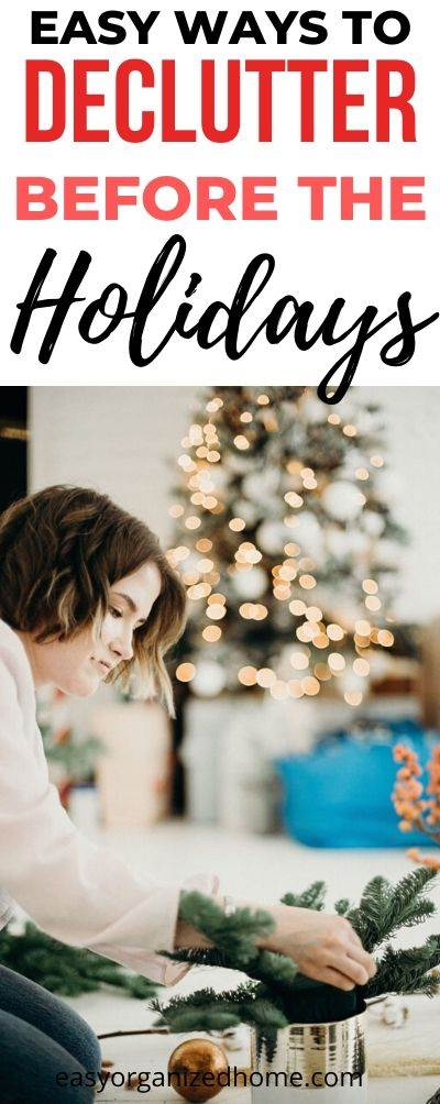 Ehat to declutter before Christmas