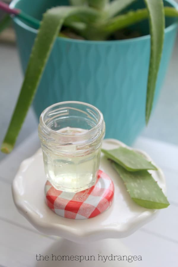 DIY Hand Sanitizer with Aloe