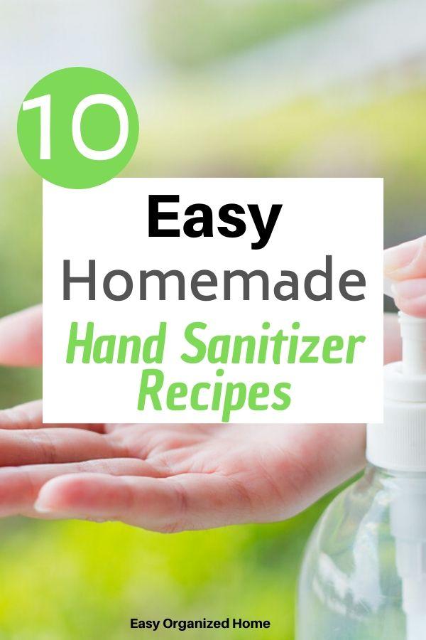 Make your own hand sanitizer! #diyhandsanitizer #homemadehandsanitizer #naturalhandsanitizer #essentialoilhandsanitizer #nonalcoholhandsanitizer #handsanitizerrecipe